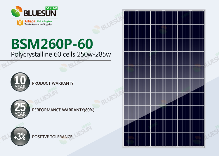 4BB 24V Poly 270w solar panel for home power system
