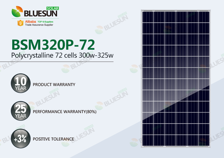 4BB poly solar panel 315w 320w 325w 72 cells series