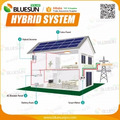 Hybrid 250KW solar power system grid tie with storage system