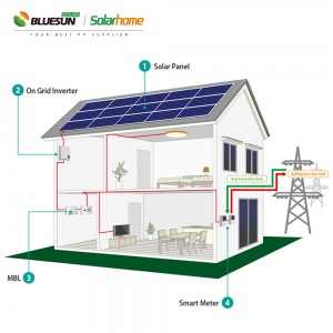 4 kw grid tied solar power system 4kva power plant solar power system kits 4000w on grid