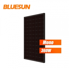 black backsheet and black frames monocrystalline 360w 365watt 370wp 375w solar panel 380 w 360w solar module