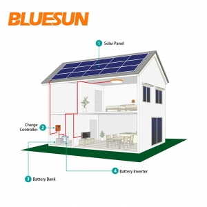 2KW off-grid solar power system 2000w solar system with 2kva inverter