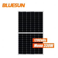 Bluesun mono 120 cells 330w 330 watts perc solar panel half cell solar panel