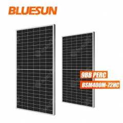 Bluesun new type 400watt solar panel 9bb solar panels perc solar module for home
