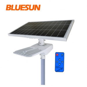 Bluesun 50Watt 80W 100W LED Solar Street Light With Battery Backup